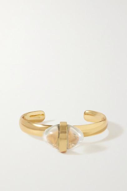 Tohum - Lumia Gold-plated Crystal Cuff
