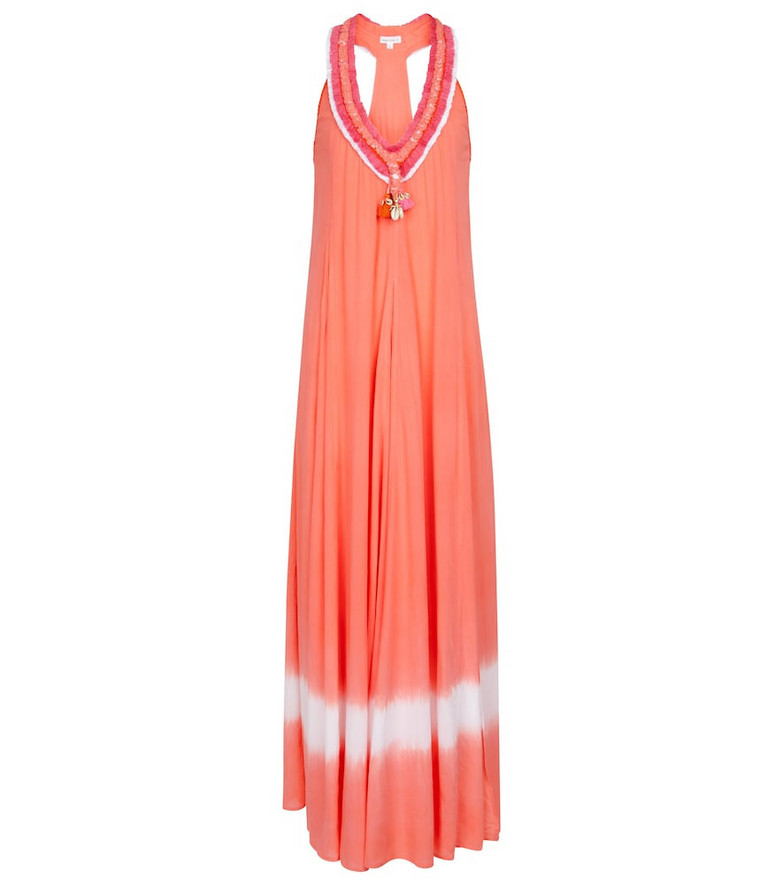 Poupette St Barth Exclusive to Mytheresa – Nava fringed and tasseled maxi dress in orange