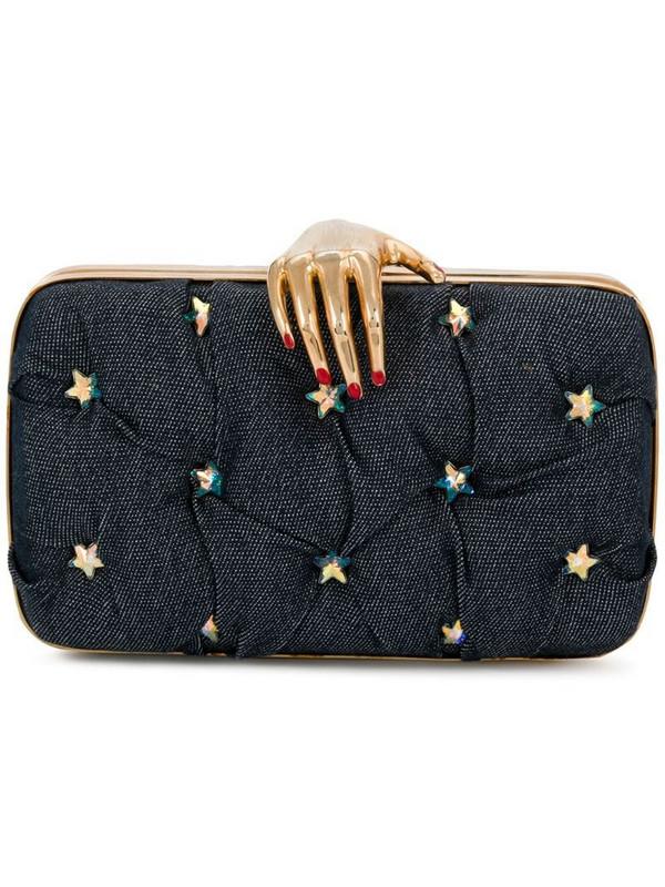 Rewind Vintage Affairs hand embellished clutch in blue