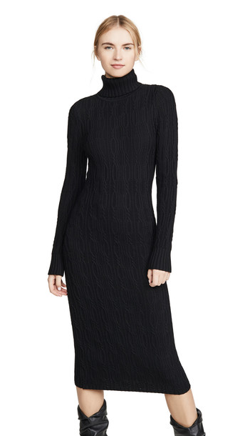 525 America Turtleneck Sweater Dress in black