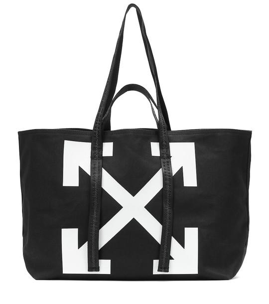 Off-White Printed tote in black