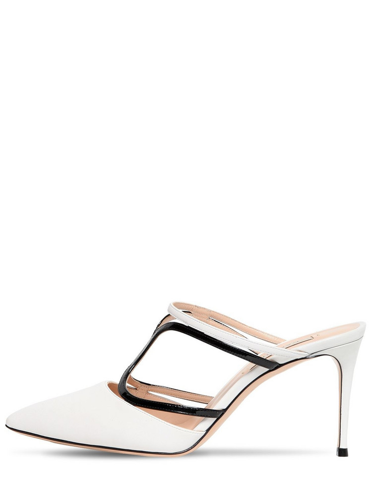 CASADEI 80mm Leather Mules in white