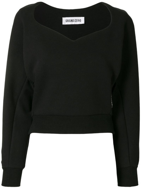 Ground Zero long-sleeved graphic print jumper in black