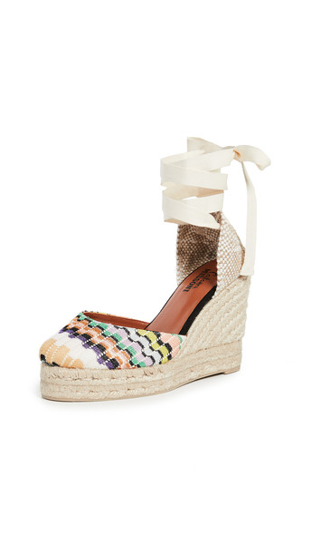 Castaner x Missoni Carina Wedge Espadrilles in natural / multi