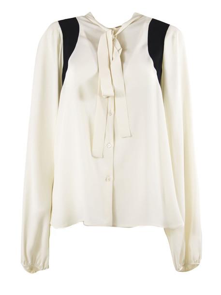 N.21 Shirt In White Silk Blend