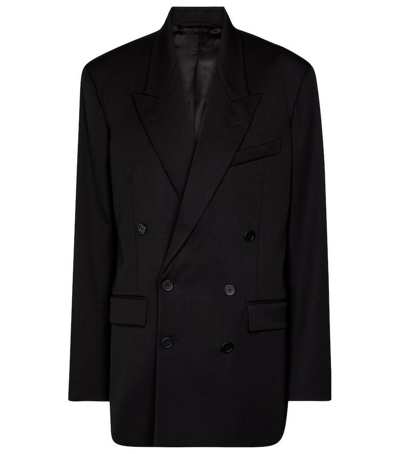 Balenciaga Double-breasted stretch-wool blazer in black