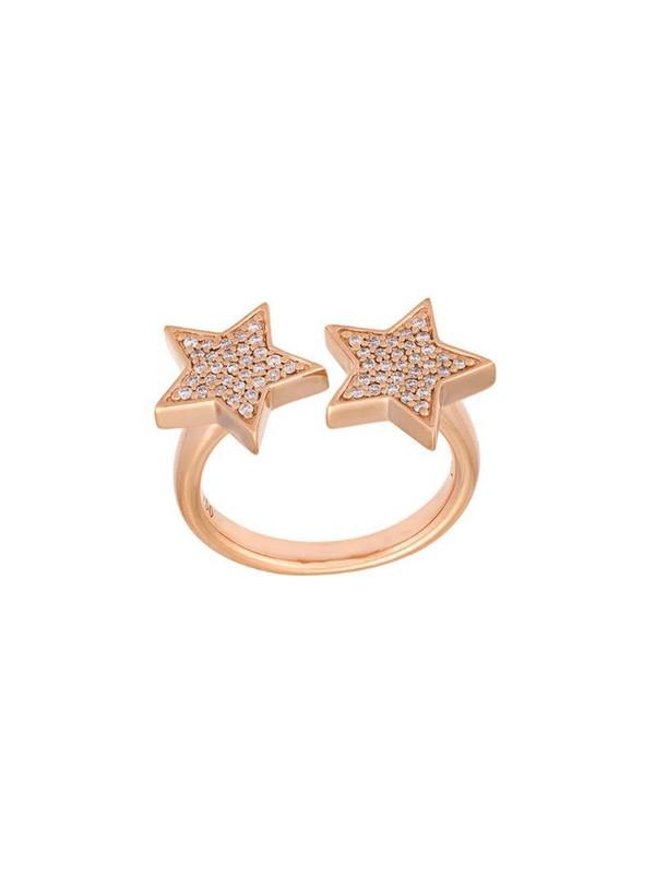 Alinka 'Stasia' double diamond star ring in metallic
