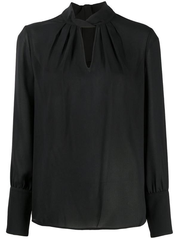 Steffen Schraut twist detail blouse in black