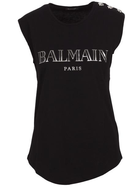 Balmain Paris Top in black
