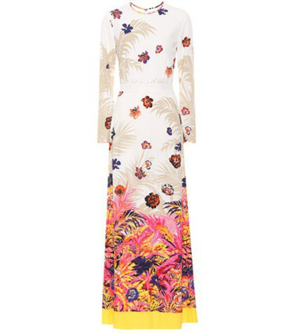 MSGM Floral-printed maxi dress in pink