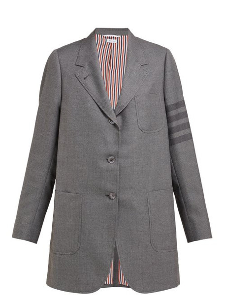 Thom Browne - 4 Bar School Uniform Wool Blend Blazer - Womens - Grey