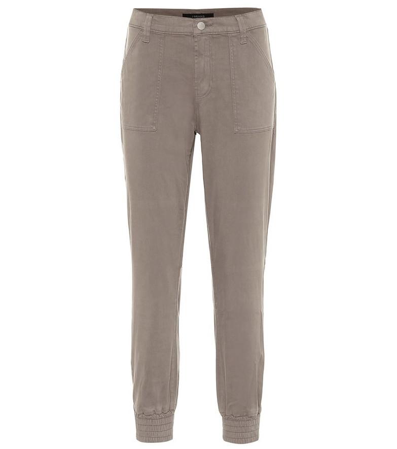 J Brand Arkin cotton-blend sweatpants in grey