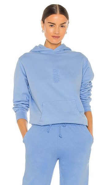 Frankies Bikinis Aiden Hoodie in Blue in chambray