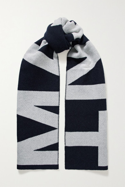Isabel Marant - Loli Wool-blend Jacquard Scarf - Midnight blue