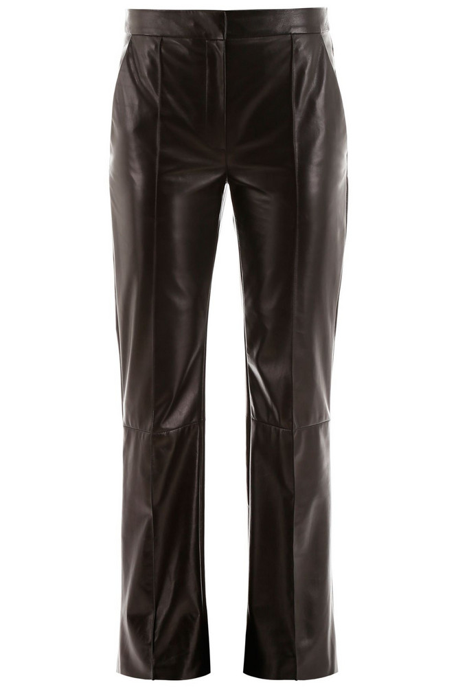 DROMe Leather Trousers in black