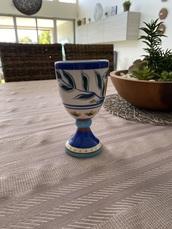 home accessory,living art majolica wine goblet