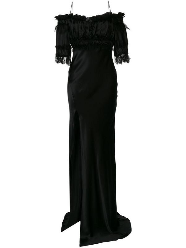 Redemption off-the-shoulder evening gown in black