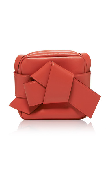 Acne Studios Musubi Mini Knotted Leather Shoulder Bag in red