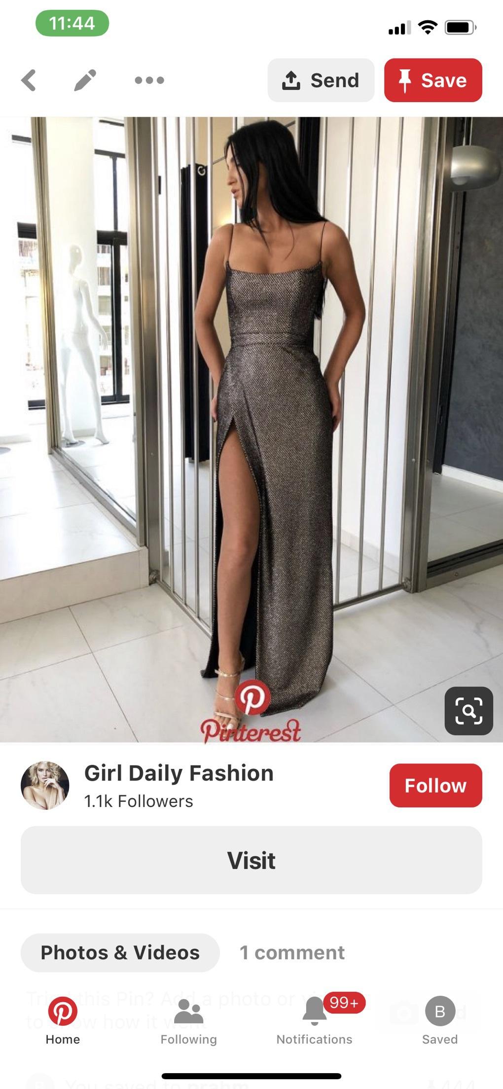 dress sparkle prom maxi slit grey spaghetti strap