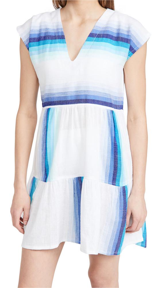 Lemlem Teref Short Dress in turquoise