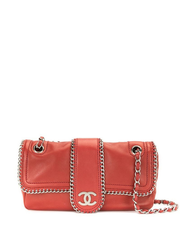 Chanel Pre-Owned 2007 chain-trimmed CC flap shoulder bag in red