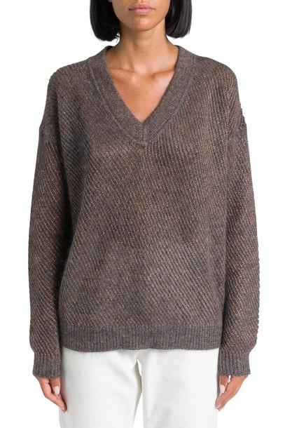 Brunello Cucinelli Knitted Sweater With Lurex Thread