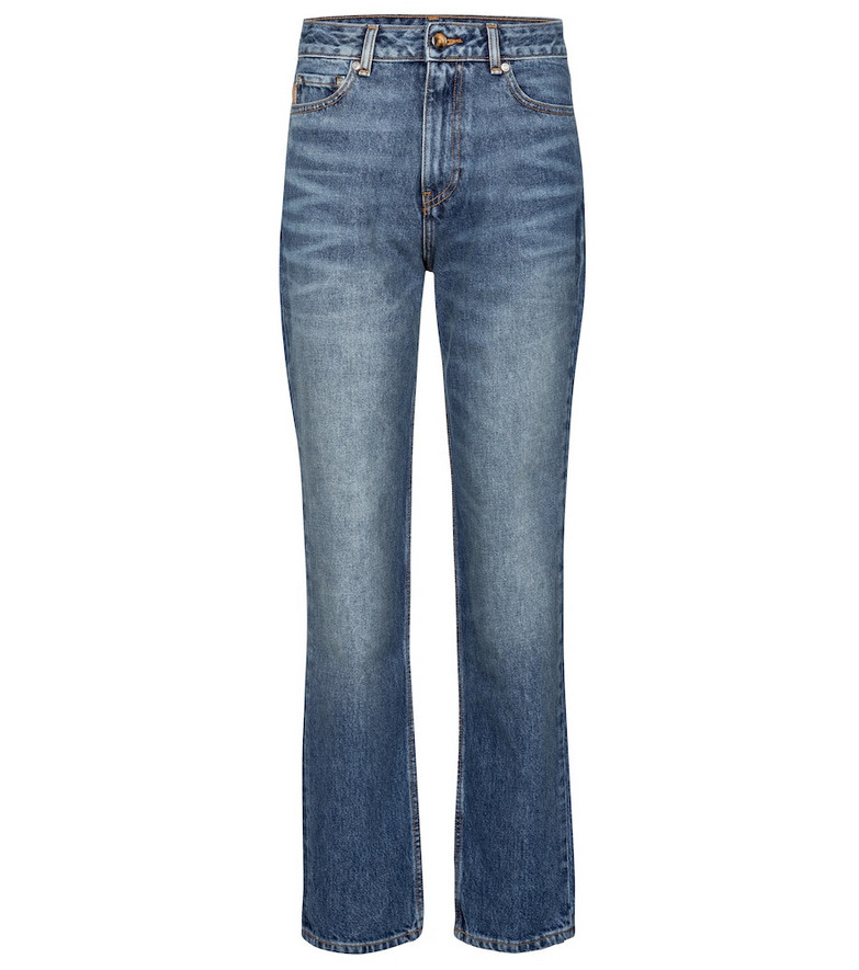 Ganni High-rise straight jeans in blue