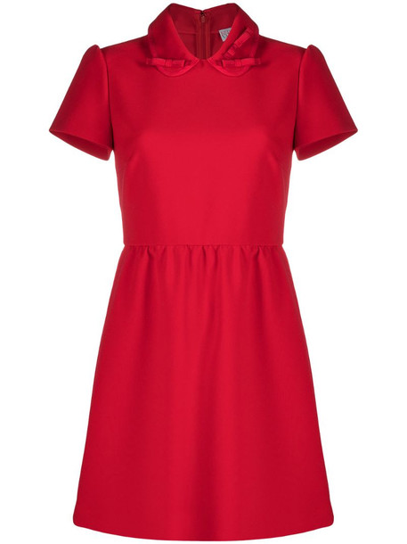 RED Valentino Peter Pan collar mini dress in red