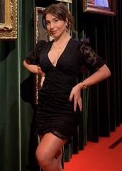 dress,stars dress,mini dress,black dress,stars,v neck dress