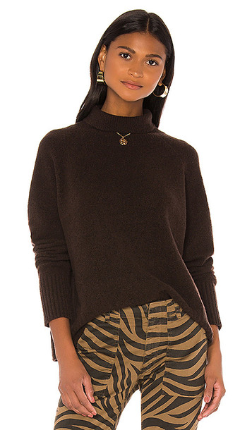 NILI LOTAN Mariah Sweater in Brown