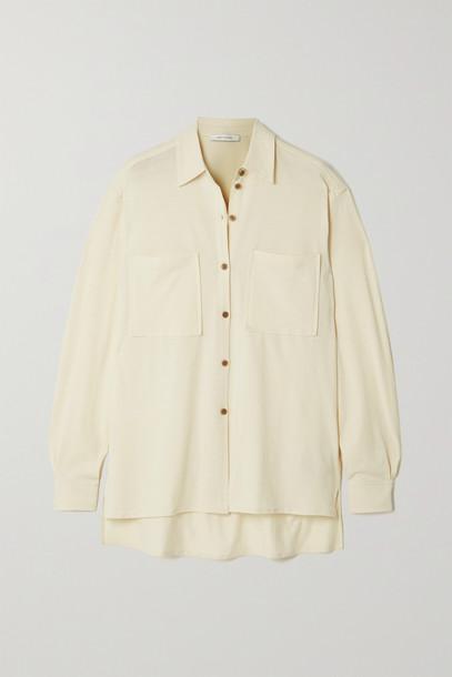 Ninety Percent - + Net Sustain Organic Cotton-jersey Shirt - Off-white