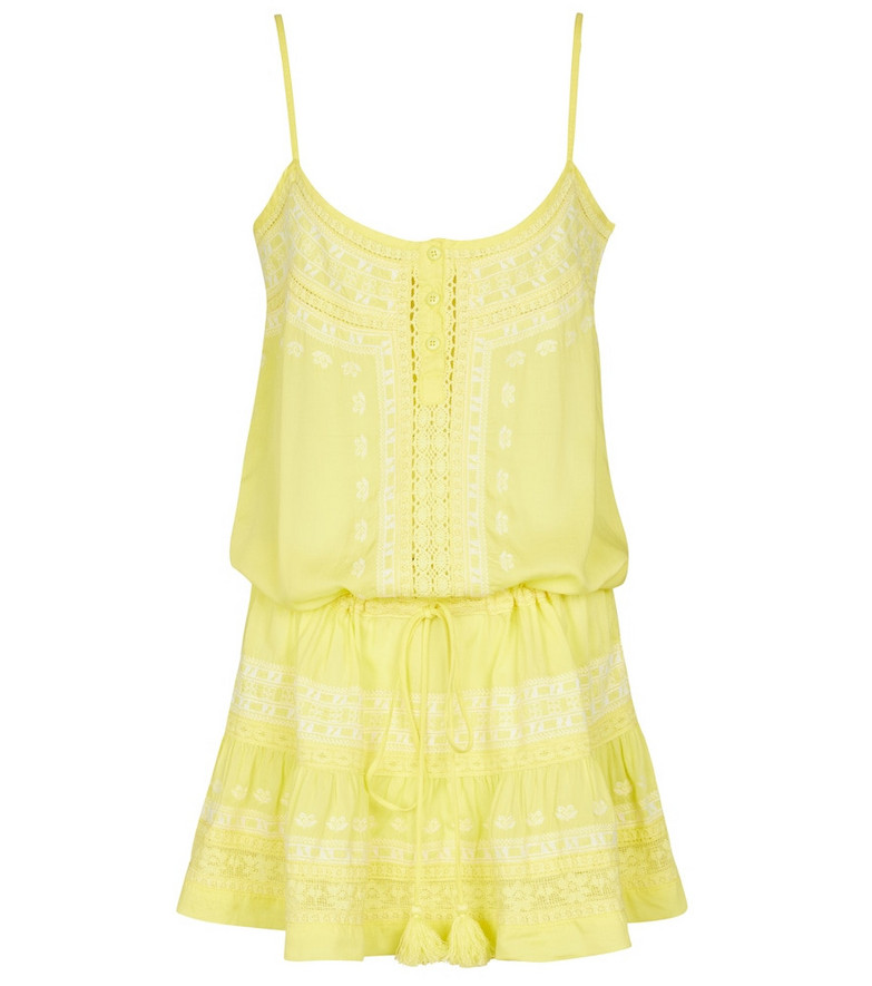 Melissa Odabash Exclusive to Mytheresa – Karen voile minidress in yellow
