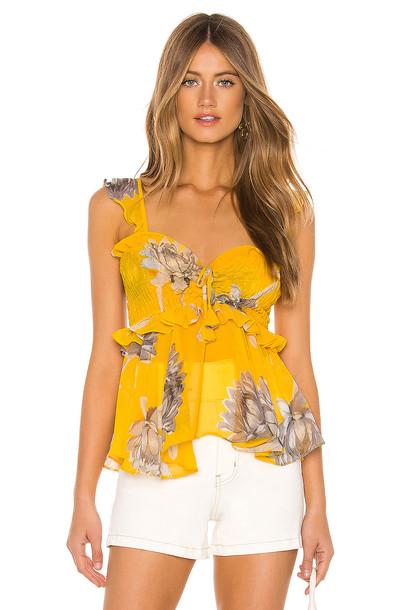 MISA Los Angeles Merlya Top in yellow