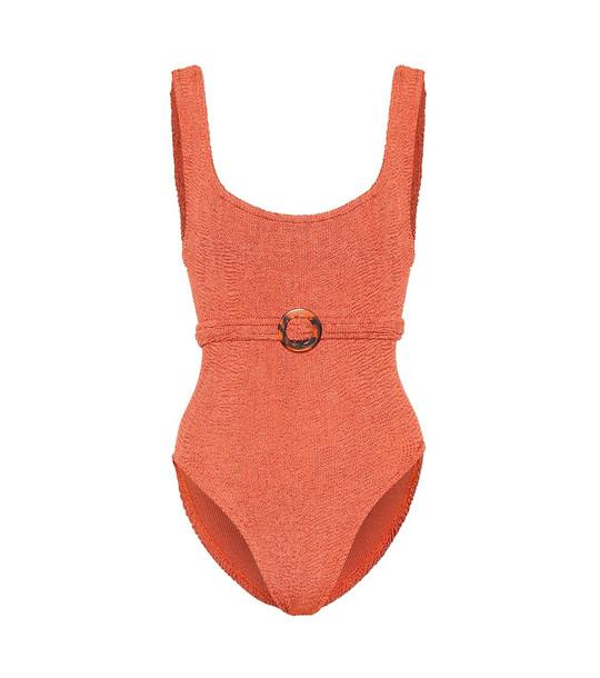 Hunza G Solitaire swimsuit in orange