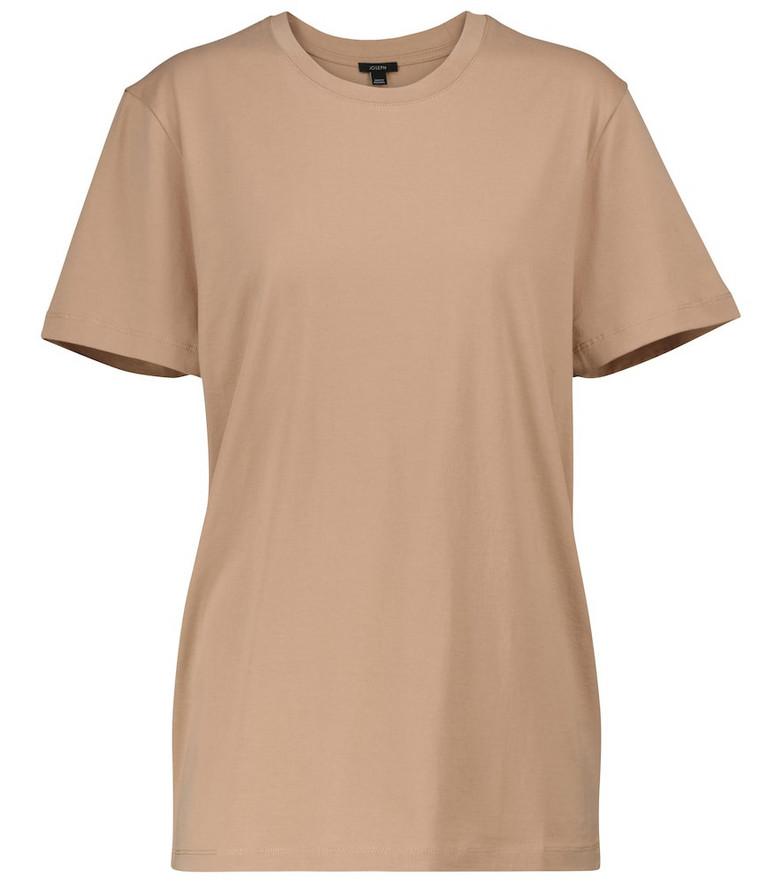 JOSEPH Cotton jersey T-shirt in beige