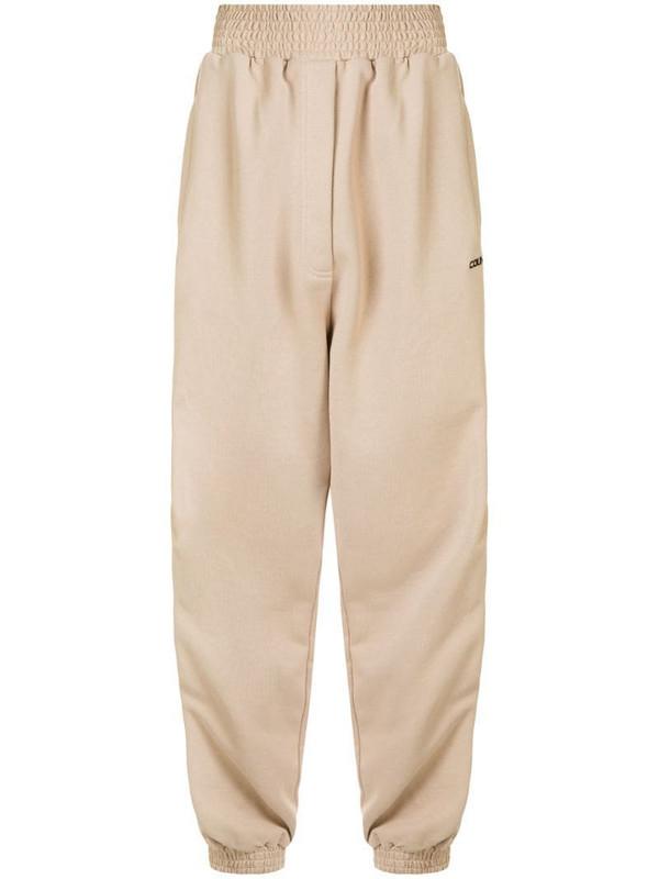 Marcelo Burlon County of Milan side zips track pants in brown