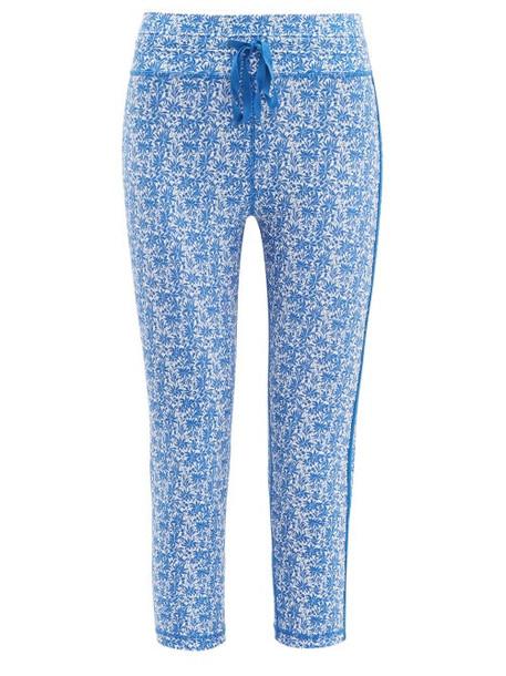 The Upside - Nyc China Print Cropped Performance Leggings - Womens - Blue Print