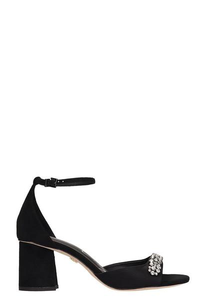 Lola Cruz Black Suede Sandals