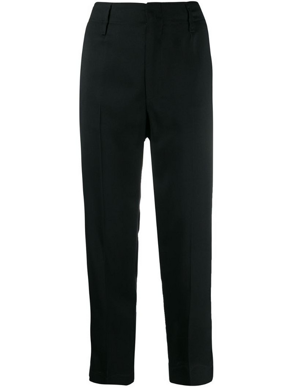 Forte Forte slim-fit tailored trousers in black