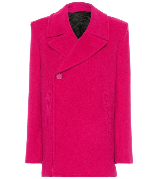 Balenciaga Camel hair-blend coat in pink