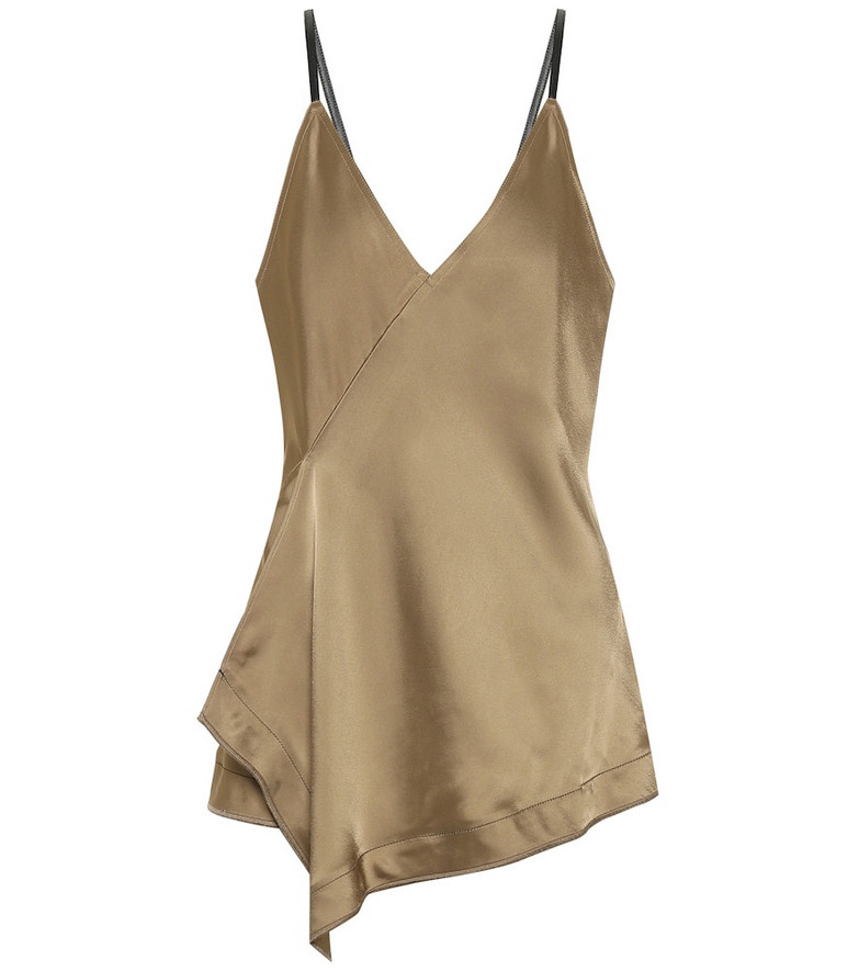 Helmut Lang Satin camisole in gold