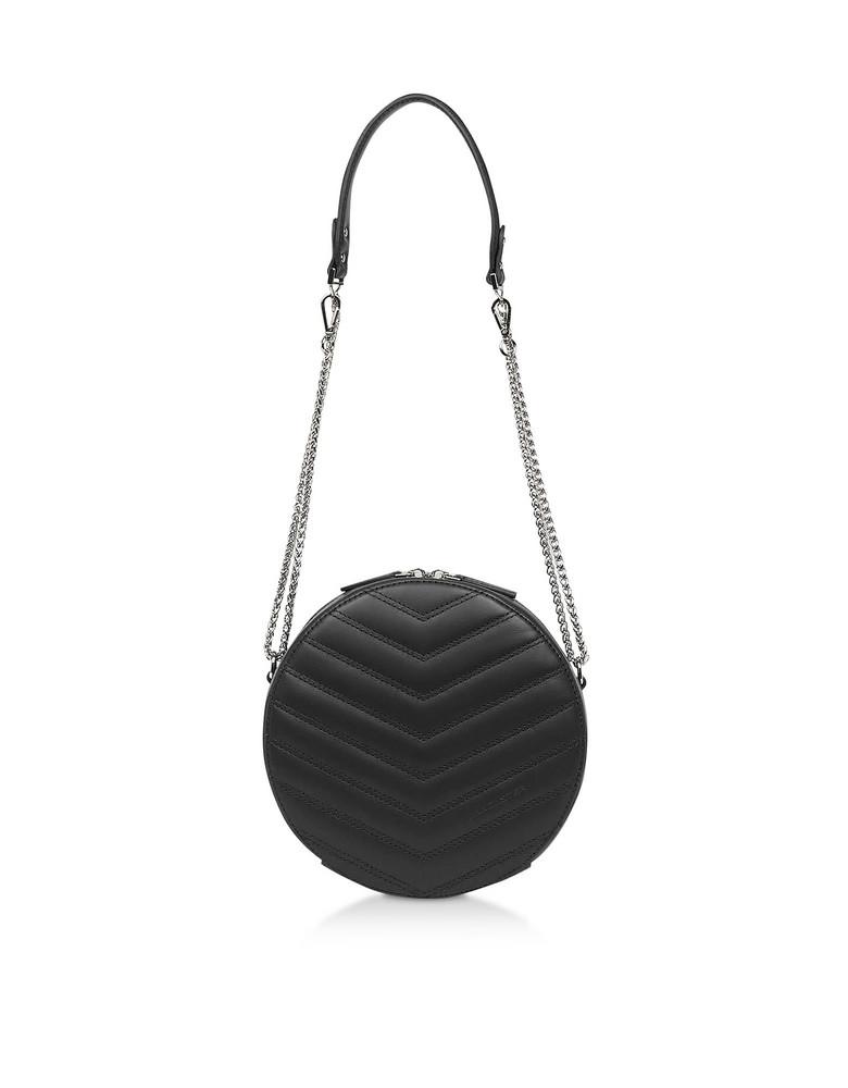 Lancaster Paris Parisienne Quilted Leather Round Crossbody Bag in black
