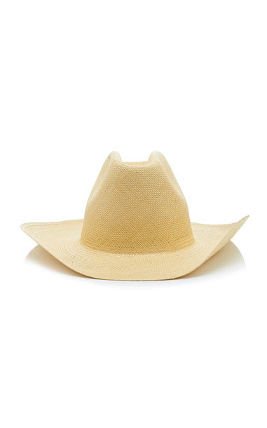 Clyde Straw Cowboy Hat in ivory