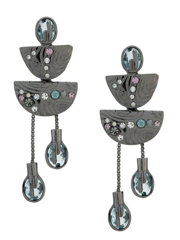 Camila Klein chain embellished earrings in silver
