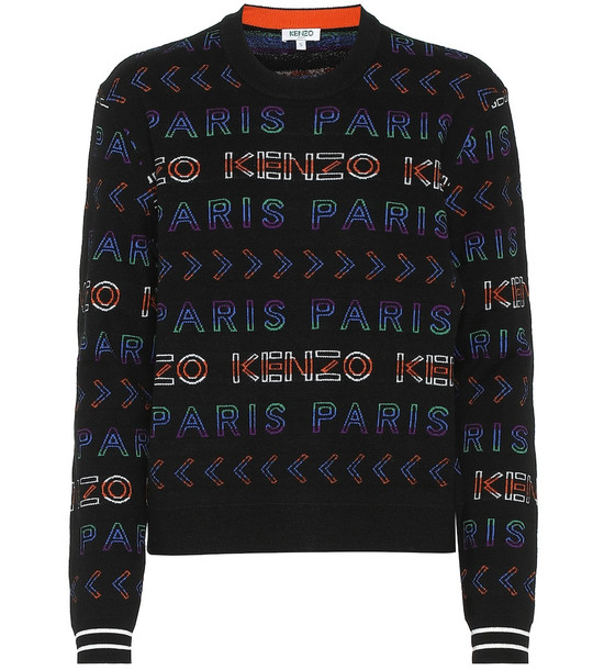 Kenzo Logo wool-blend sweater in black