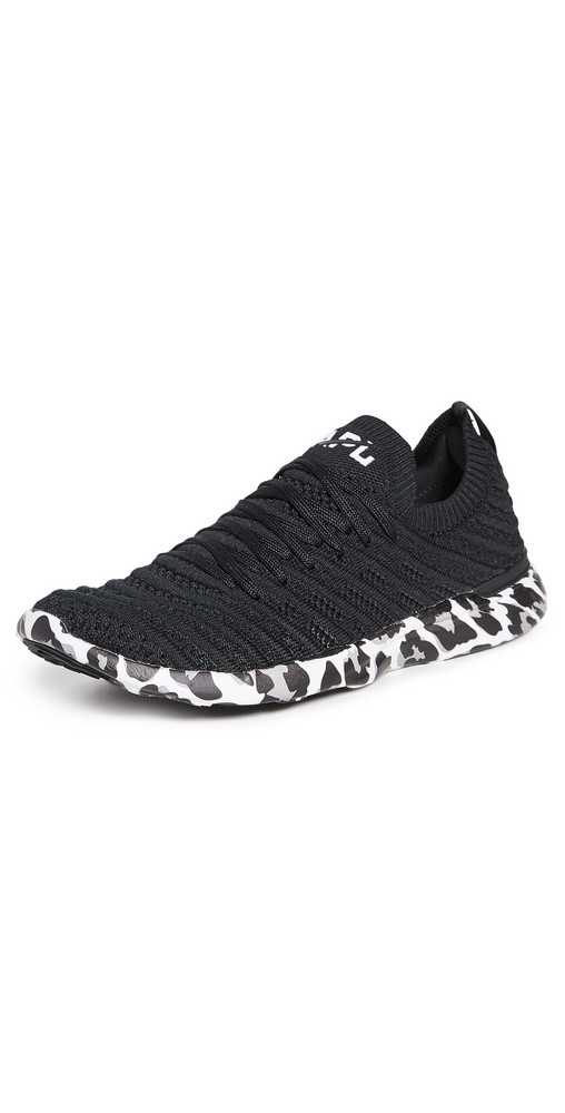 APL: Athletic Propulsion Labs Techloom Wave Sneakers in black / white / leopard