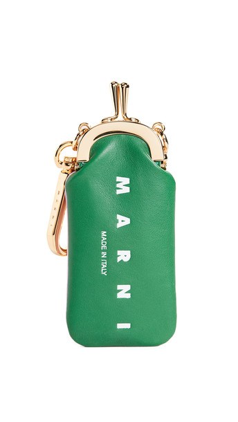 Marni Micro Pouch in green / lilac