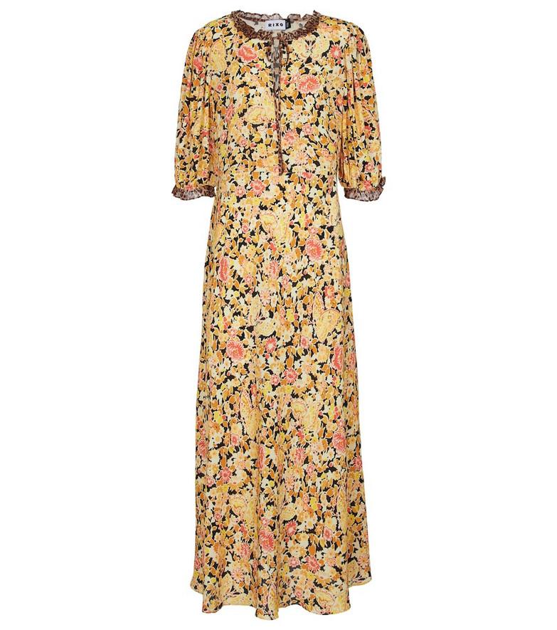 RIXO Hanna printed maxi dress