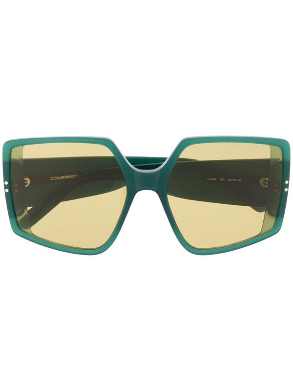 Courrèges Eyewear oversized frame sunglasses in green