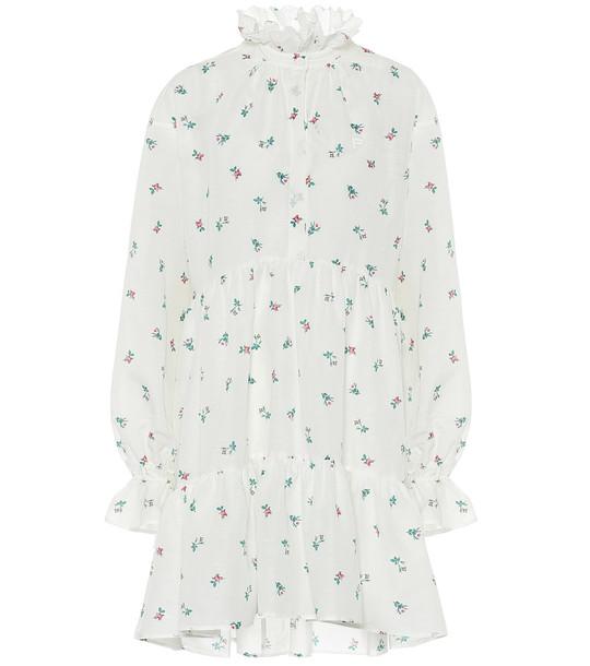 Philosophy Di Lorenzo Serafini Floral cotton minidress in white